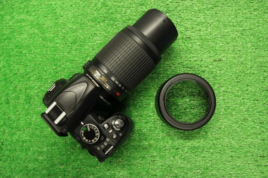 Nikon D3100 + 55-200mm VR